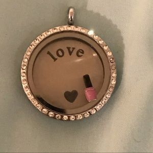 Origami owl nail polish charm. Locket not included